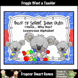 Literacy Center--Back to School Down Under I Have... Who Has? Alphabet Games