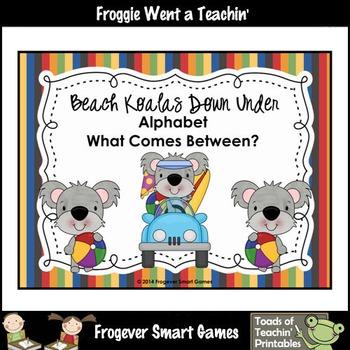 Alphabet--Beach Koalas Down Under (Alphabet/What Comes Between?)