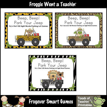 Literacy Center -- Beep, Beep! Park Your Jeep Bundle ( First 300 Fry Words)