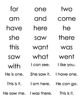 Literacy Center Beginning Sound Sort, Sentence Sort, Sight Words Galore
