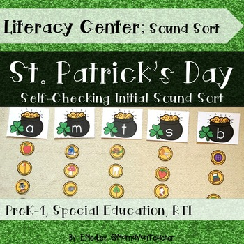 Literacy Center: Letters & Sounds Sort, St. Patrick's Day