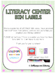 Literacy Center Bin Labels