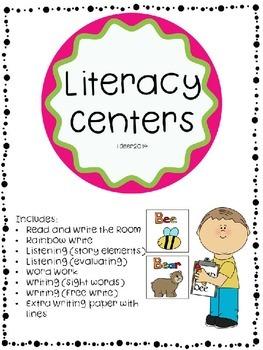 Literacy Center Blacklines