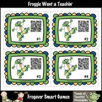 Literacy Center--Blends Palooza Fun with Froggie's QR Codes Mega Bundle