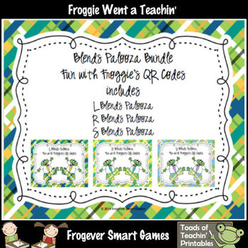 Literacy Center--Blends Palooza Fun with Froggie's QR Code