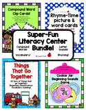 Literacy Center Bundle! 4 Super-fun Literacy Centers for Pre-K, K & Homeschool!