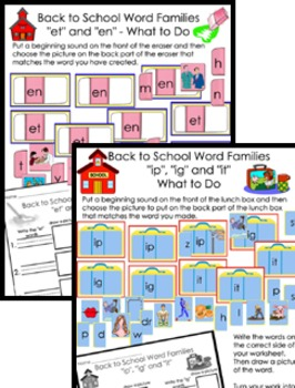 Literacy Center Bundle - Back to School With Short Vowels A, E, I, O, U