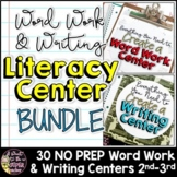 Literacy Center Bundle Pack - Print and Go Word Work and Writing Centers
