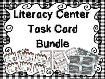Christmas Literacy Center Bundle Task Cards with QR Scan Codes