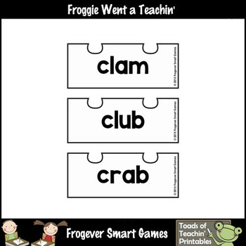 CCVC Word Puzzles (25 two piece puzzles)