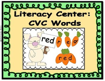 Literacy Center: CVC Words - Easter and Spring Versions