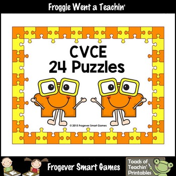 CVCE Word Puzzles (24 two piece puzzles)