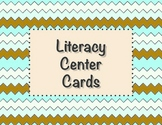 Literacy Center Cards