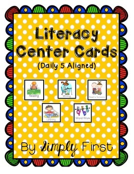 Literacy Center Cards (Daily 5 Aligned)