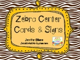 Literacy Center Cards~ Zebra Theme