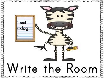 Literacy Center Cards~ Zebra Theme