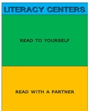 Literacy Center Cards and Checklist