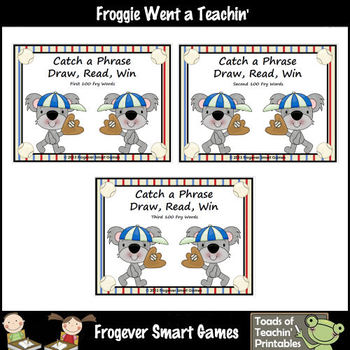 Literacy Center -- Catch A Phrase Bundle (Set I, Set II, & Set III)