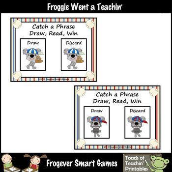 Literacy Center -- Catch a Phrase Draw, Read, Win Set I