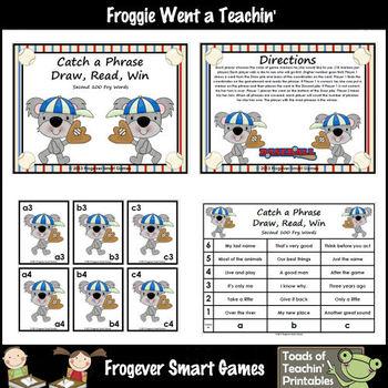 Literacy Center -- Catch a Phrase Draw, Read Win Set II