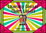 Literacy Center Chart Labels