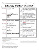 Literacy Center Checklist **FULLY EDITABLE!!**