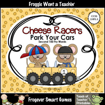 Literacy Center--Cheese Racers Park Your Cars (Second 100 Fry Words)