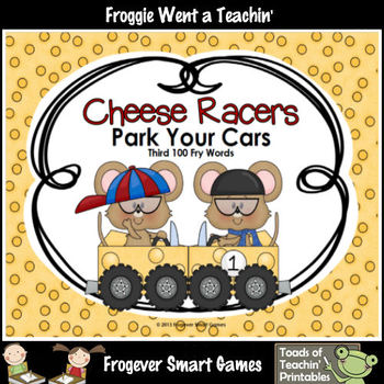 Literacy Center--Cheese Racers Park Your Cars (Third 100  Fry Words)