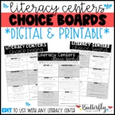 Literacy Center Choice Boards {EDITABLE} | Choice Boards for ANY Literacy Center
