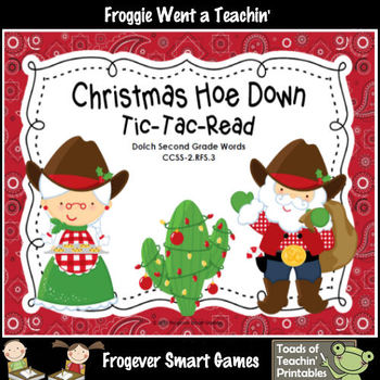 Literacy Center--Christmas Hoe Down Tic-Tac-Read (2nd Grad