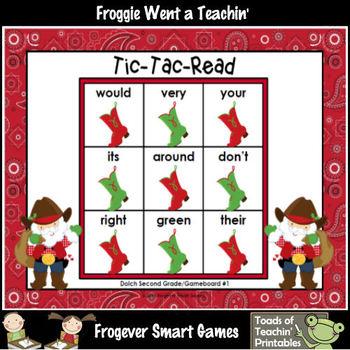 Literacy Center--Christmas Hoe Down Tic-Tac-Read Bundle II