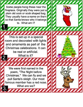 Literacy Center - Christmas Riddles