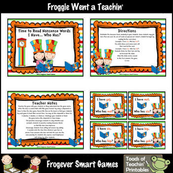 Literacy Center -- Circus Nonsense Words Combo Pack