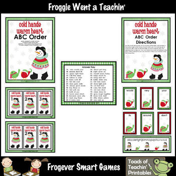 Literacy Center -- Cold Hands Warm Hearts (abc order)