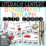 Literacy Center: Consonant Digraph Clip Cards (ch, sh, th,