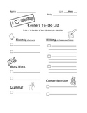 Literacy Center Contract- Blank