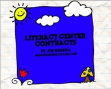 Literacy Center Contracts: Blank Template w/ examples included!