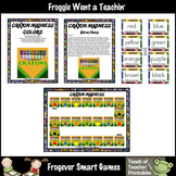 Literacy Center--Crayon Madness (Color Word Game)
