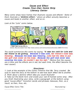 Literacy Center: Creating a Cause/Effect Comic