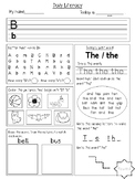 Alphabet + Sight Words Writing Worksheets (24 worksheets)