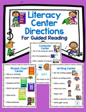 Literacy Center Direction Posters with Pictures for Guided Literacy Centers!
