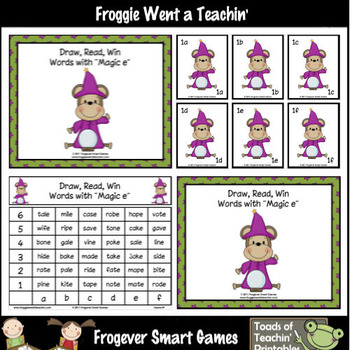Magic E Words--Draw, Read, Win