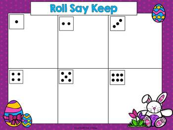 Sight Word Games - Easter Sight Word Roll Say Keep