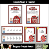 Literacy Center -- Farm Bowling (lowercase and uppercase tracing)