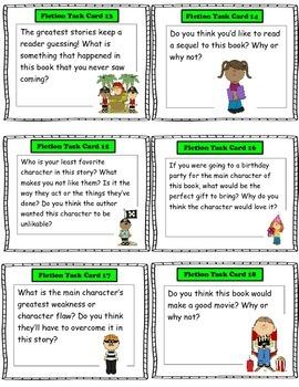Literacy Center Fiction Task Cards