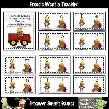 Literacy Center -- Firehouse Teddies (alphabet match)