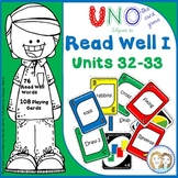 Read Well 1 Activity Uno Game to Develop Fluency for Read Well 1 Units 32 and 33