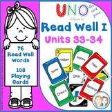 Read Well 1 Uno Game to Develop Fluency for Read Well 1 Units 33 and 34
