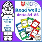 READ WELL 1 Activity Uno-like Fluency Game Units 34 -35