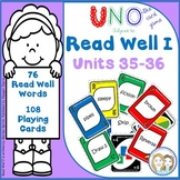 READ WELL 1 Uno-like Fluency Game Units 35-36